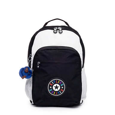 "Seoul Go Large 15"" Laptop Backpack - Black white Combo"