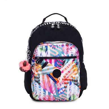 Seoul Go Large Printed Laptop Backpack - Black Print Combo