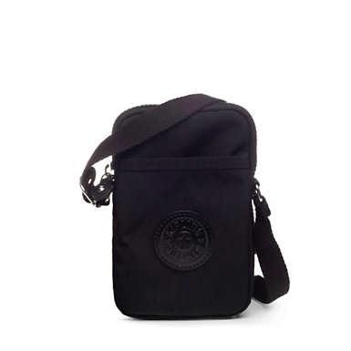 Tally Crossbody Phone Bag - Black Tonal Zipper