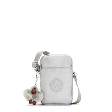 키플링 탈리 폰백, 메탈릭 - 브라이트 실버 Kipling Tally Metallic Crossbody Phone Bag,Bright Silver