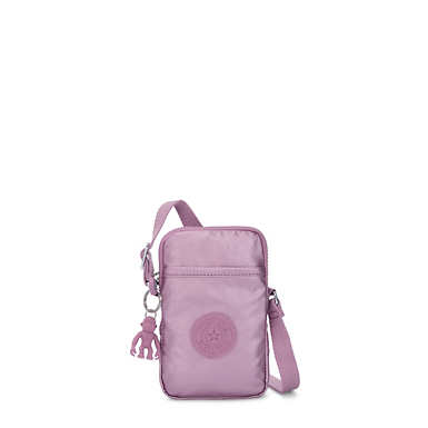 Tally Metallic Crossbody Phone Bag - Metallic Berry