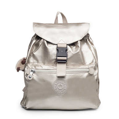 Keeper Metallic Backpack - Cloud Grey Metallic