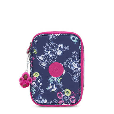 Disney's Minnie Mouse and Mickey Mouse 100 Pens Printed  Case - DOODLE BLUE