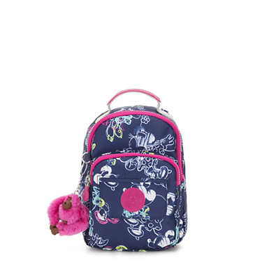 키플링 Kipling Alber샵디즈니 Disneys Minnie Mouse and Mickey Mouse 3-In-1 Convertible Mini Bag Backpack,DOODLE BLUE