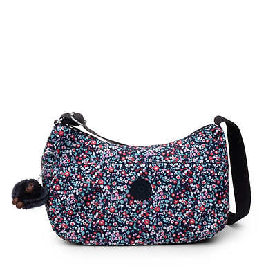 Adley Printed Bag - Glistening Poppy  Blue