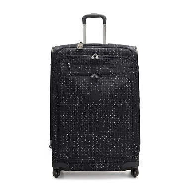 Large Printed Rolling Luggage - Tile Print