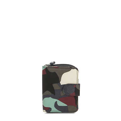 New Money Small Printed Credit Card Wallet - Camo