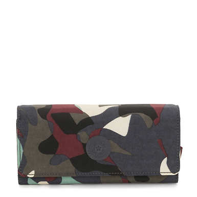 New Teddi Printed Snap Wallet - Camo