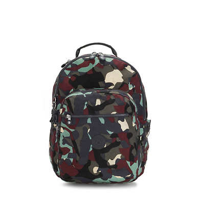 키플링 서울 백팩 라지 15인치 카모 Kipling Seoul Large15 Laptop Printed Backpack,Camo