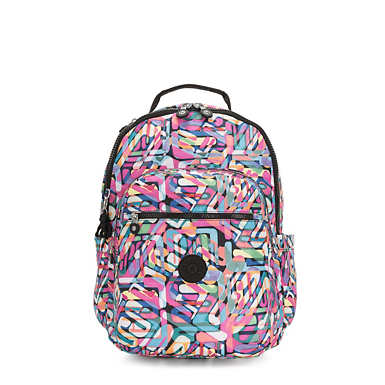 "Seoul Large 15"" Laptop Printed Backpack - Wild Melody"