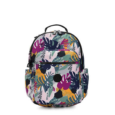 "Seoul Large Printed 15"" Laptop Backpack - Active Jungle"