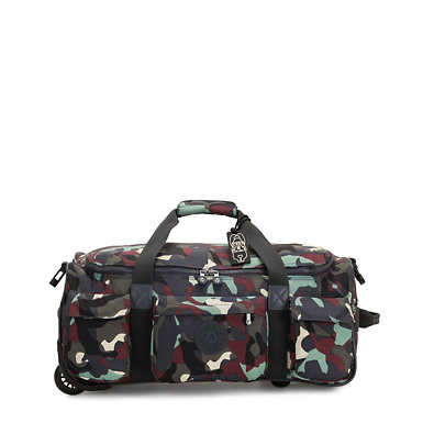 Small Carry-On Rolling Luggage Duffel - Camo