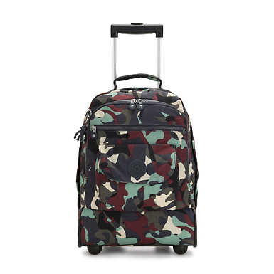 Large Printed Rolling Backpack - Camo