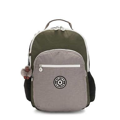 키플링 서울 고 백팩 엑스 라지 17인치 Kipling Seoul Go Extra Large17 Laptop Backpack,Jaded Green Color Block