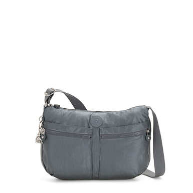 Izellah Metallic Crossbody Bag - Steel Grey Metal