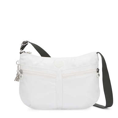 Izellah Metallic Crossbody Bag - White Metallic