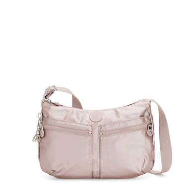 Izellah Metallic Crossbody Bag - Metallic Rose