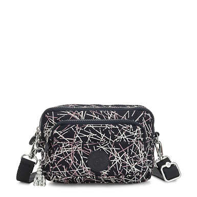 Multiple 2-in-1 Convertible Printed Crossbody Bag - Navy Stick