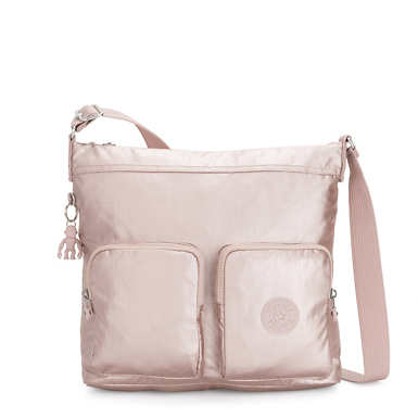 Eirene Metallic Crossbody Bag - Metallic Rose