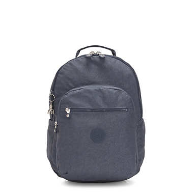 "Seoul Large 15"" Laptop Backpack - Navy Blue Twist"