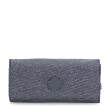 New Teddi Snap Wallet - Navy Blue Twist