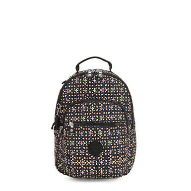 "Seoul Small 11"" Laptop Printed Backpack - Floral Mozzaik"