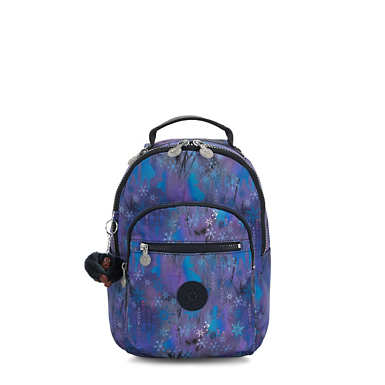키플링 X 디즈니 겨울왕국 2 서울 고 가방 스몰 11인치 Kipling Seoul Go Small Disneys Frozen II 11 Laptop Backpack,Mystical Adventure