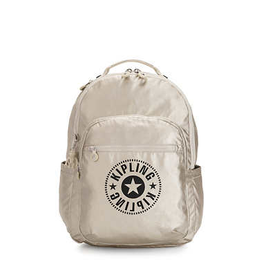 키플링 서울 백팩 라지 15인치  Kipling Seoul Large15 Laptop Backpack,Cloud Metal