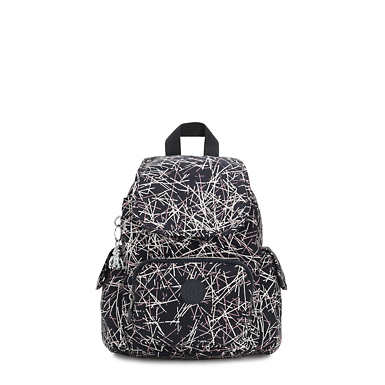 City Pack Extra Small Printed Backpack - Navy Stick