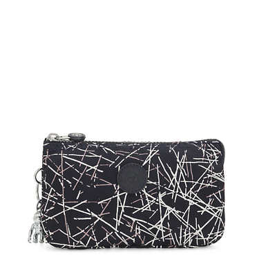 Creativity Large Printed Pouch - Navy Stick