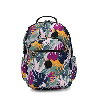 "Seoul Extra Large Printed 17"" Laptop Backpack - Active Jungle"