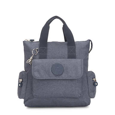 Revel Small Convertible Backpack - Navy Blue Twist