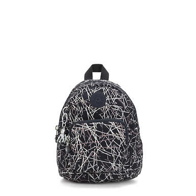 Glayla Convertible Printed Mini Backpack - Navy Stick