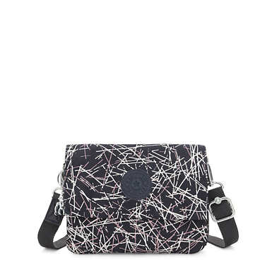 Osyka Printed Convertible Crossbody Bag - Navy Stick
