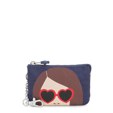 키플링 크리에이티비티 파우치 라지 Kipling Creativity Mini Printed Pouch Keychain,Heart Girl