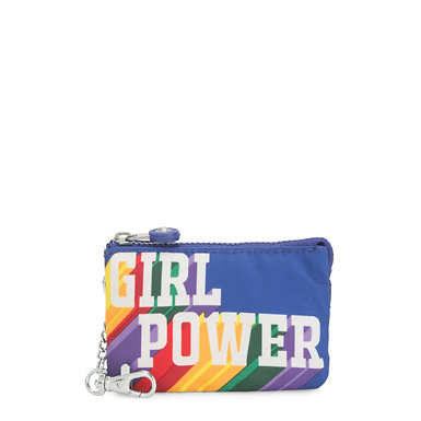 키플링 크리에이티비티 파우치 라지 Kipling Creativity Mini Printed Pouch Keychain,Girl Power Rainbow