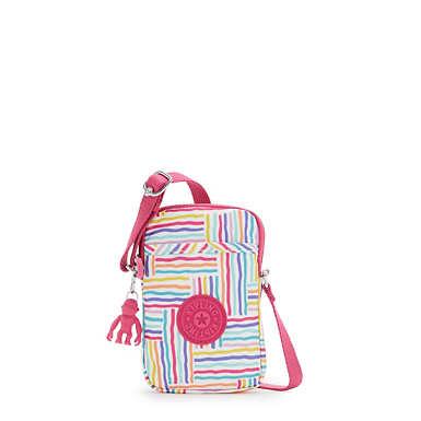 키플링 탈리 폰백 Kipling Tally Printed Crossbody Phone Bag,Candy Lines
