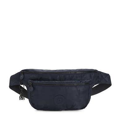 Yasemina Extra Large Waist Pack - Satin Camo Blue