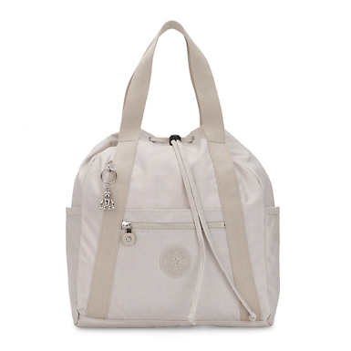 Art Small Tote Backpack - Glimmer Grey