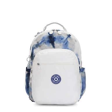 "Seoul Large Metallic 15"" Laptop Backpack - Tie Dye Blue Lacquer"