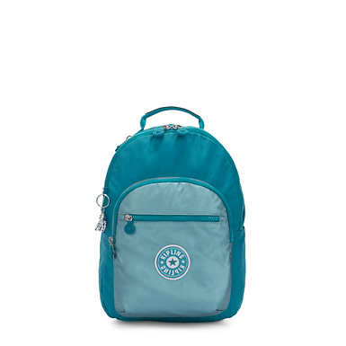 Seoul Small Metallic Tablet Backpack - Turquoise Sea Metallic Block