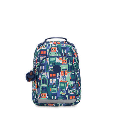 "Class Room Small 13"" Printed Laptop Backpack - Robot Camo Blue"