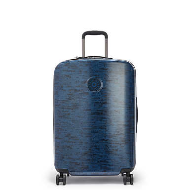 키플링 큐리오시티 롤링 캐리어 미디움 Kipling Curiosity Medium Printed 4 Wheeled Rolling Luggage,Blue Eclipse Print