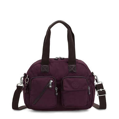 Defea Shoulder Handbag - Dark Plum