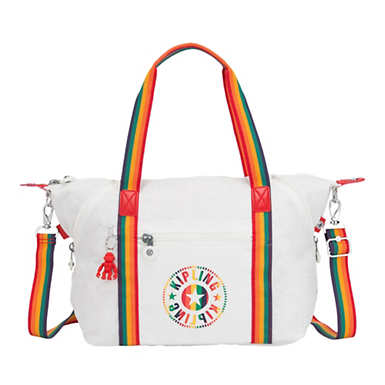 Art Handbag - Rainbow White