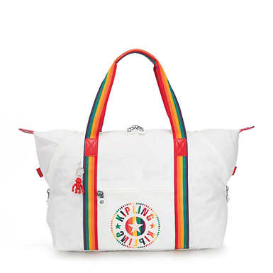 Art Rainbow White Medium Tote - Rainbow White