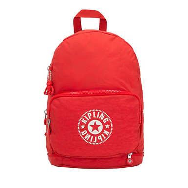 키플링 Kipling Classic NimanFoldable Backpack,Active Red