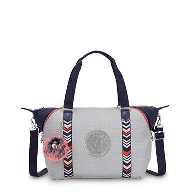 Art Mini Handbag - New Grey Embossed Block