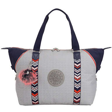 Art Medium Tote - New Grey Embossed Block