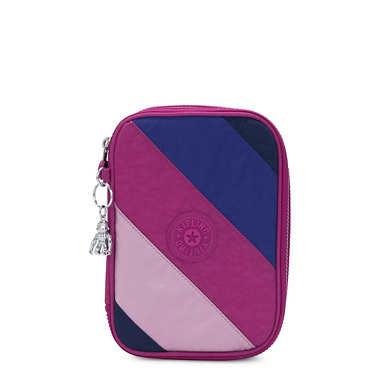 키플링 100 펜 케이스 Kipling 100 Pens Case,Pink Mix Block